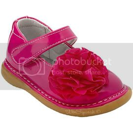 Wee Squeak Hot Pink Peony Mary Janes